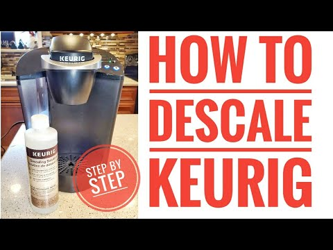 HOW TO DESCALE KEURIG K-Classic Coffee Maker Step by Step Using Descaling Solution for Beginners