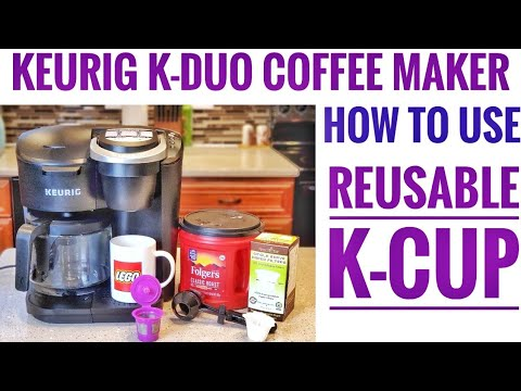 HOW TO USE REUSABLE K-CUP Keurig K-Duo 12 Cup Coffee Maker with Single Serve K-Cup Pod 5000204976