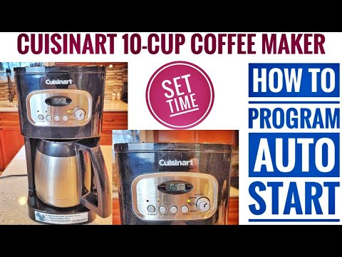HOW TO PROGRAM AUTO START Cuisinart 10 cup Thermal Programmable Coffee Maker DCC-1150
