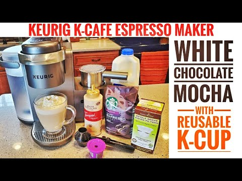 Keurig K-Cafe Espresso Maker STARBUCKS WHITE CHOCOLATE MOCHA WITH REUSABLE K-CUP