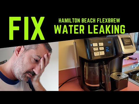 How to fix & repair Hamilton Beach Flexbrew Coffee Maker water leak – model 49954
