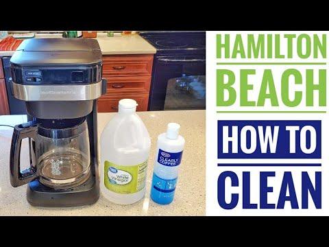 HOW TO CLEAN / DESCALE Hamilton Beach Easy Access Coffee Maker 46300 VINEGAR