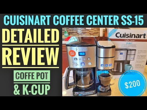 DETAILED REVIEW Cuisinart Coffee Center 12 Cup Coffee Maker K-Cup Machine HOW TO MAKE COFFEE