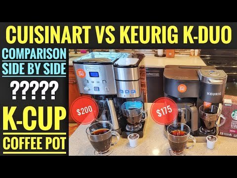 Keurig K-Duo VS Cuisinart Coffee Center SS-15 Coffee Maker & K Cup Machine COMPARISON WHICH ONE??