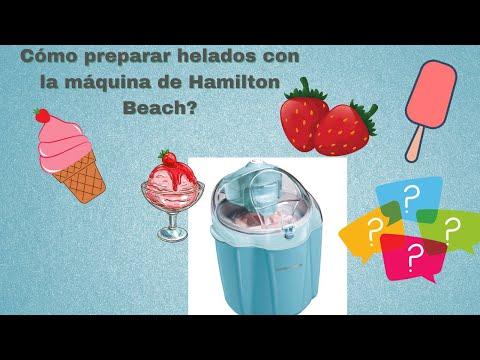 Maquina para hacer helados de Hamilton Beach 🍧 Qué tal quedan los heladitos caseros? FÁCIL Y RÁPIDO🤗