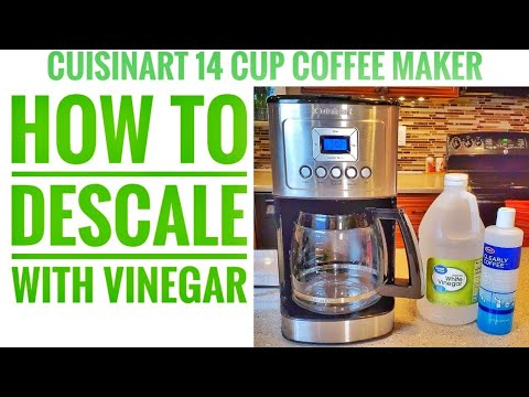 Cuisinart DCC-3200 Perfectemp Coffee Maker 14 Cup HOW TO DESCALE / CLEAN WITH VINEGAR