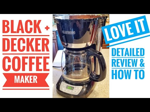 Black & Decker 12 Cup Programmable Coffee Maker DETAILED Review & How To  LOVE IT