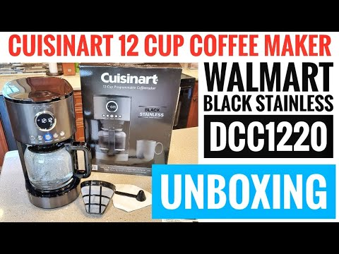 UNBOXING Cuisinart 12 Cup Black Stainless Coffee Maker DCC-1220 WALMART BLACK STAINLESS