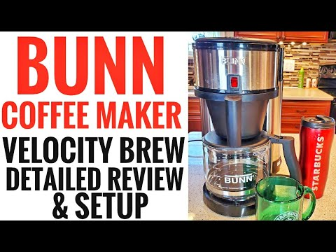 DETAILED REVIEW & HOW TO SETUP BUNN COFFEE MAKER NHS VELOCITY SPEED BREW