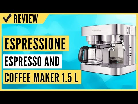 Espressione Stainless Steel Machine Espresso and Coffee Maker 1.5 L Review