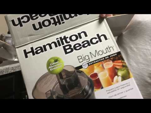 Hamilton Beach Big Mouth Juice Extractor Unboxing | Model 67601