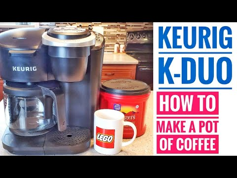 Keurig K-Duo Coffee Maker How To Make A POT OF COFFEE How To Brew Coffee