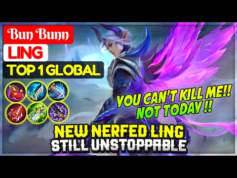 New Nerfed Ling Still Unstoppable [ Top 1 Global Ling ] Bun Bunn – Mobile Legends