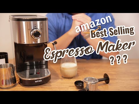Amazon Number 1 Best Seller in Coffee Machine  | Wirsh Espresso Maker with Milk Frother