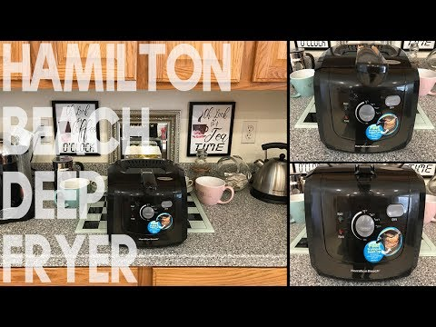Unboxing Hamilton Beach Deep Fryer with Cool Touch, 2-Liter Oil Capacity