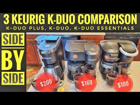 3 Keurig K-Duo Coffee Maker Comparison K-Duo Plus, K-Duo, K-Duo Essentials K-Cup Brewer & Coffee Pot