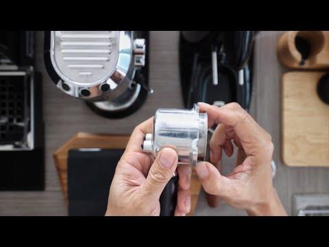 How to modify the Portafilter DeLonghi Dedica EC685 using a non pressurized filter basket and test.