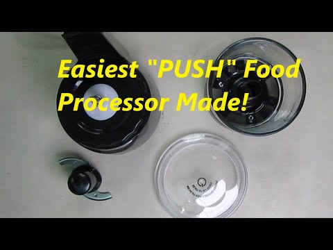 BEST Food Processor & Vegetable Chopper Hamilton Beach Stack & Press 3-Cup Glass Bowl REVIEW