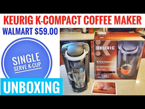 UNBOXING Walmart Keurig K-Compact Single Serve K-Cup Coffee Maker