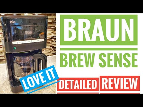 DETAILED REVIEW Braun Brewsense Drip Coffee Maker KF7000 BK How To Brew Coffee LOVE IT