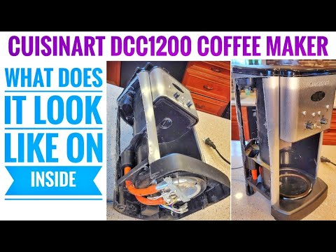 Cuisinart DCC-1200 Coffee Maker Brew Central 12 Cup Programmable HOW DOES IT WORK & LOOK INSIDE