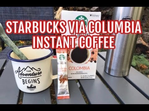 Starbucks Via Colombia instant coffee review- Good Sunday morning.