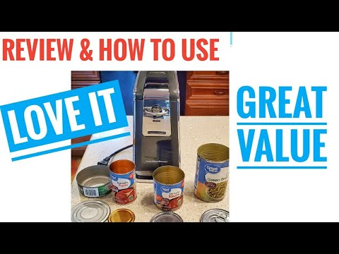 Hamilton Beach Electric Can Opener REVIEW How to Use Smooth Touch