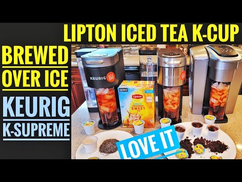 Lipton Iced Tea K-Cup Brewed Over Ice with Keurig K-Supreme & K-Elite Coffee Maker HOW TO BREW