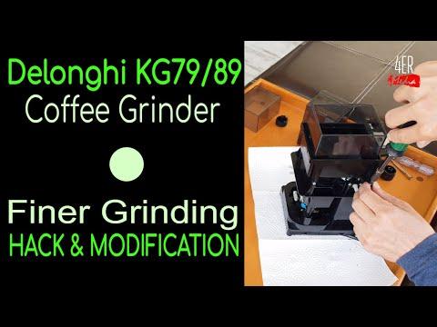 Delonghi KG79 – KG89 FINER GRINDING Espresso Hack I How to Modify Coffee Grinder