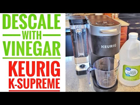 HOW TO CLEAN / DESCALE KEURIG K SUPREME WITH VINEGAR Start Auto Cleaning Cycle on Machine