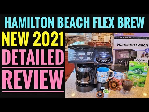 Detailed Review NEW 2021 Hamilton Beach FlexBrew Trio Coffee Maker K-Cup Single Serve HOW TO USE