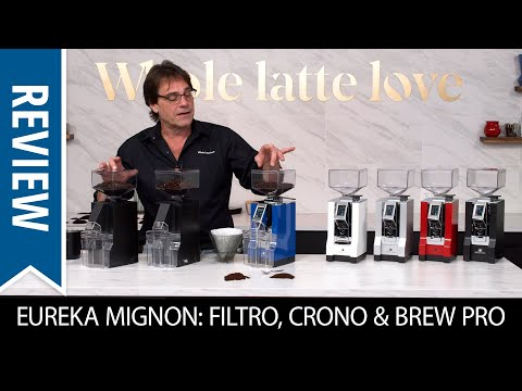 Review: Eureka Mignon Filtro, Crono & Brew Pro Coffee Grinders