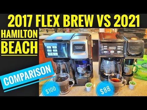 HAMILTON BEACH FlexBrew 2 Way Coffee Maker K Cup COMPARISON 2017 VS NEW 2021 MODEL