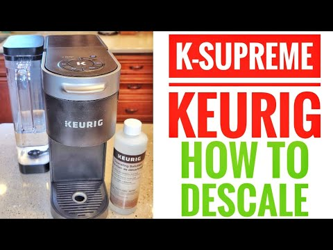 HOW TO DESCALE KEURIG K-SUPREME With Keurig Descaling Solution AUTO CLEAN  MAKE CLEAN LIGHT GO OUT