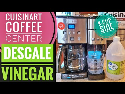 HOW TO CLEAN / DESCALE K CUP SIDE  Cuisinart Coffee Center Single Serve Brewer  TURN OFF CLEAN LIGHT