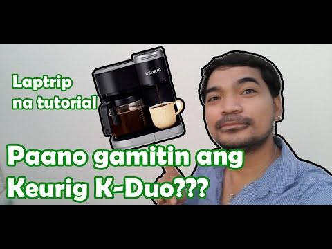 Keurig K-Duo Coffee maker | demo  | How to use |  tagalog | IamRomeoC (Vlog #201)