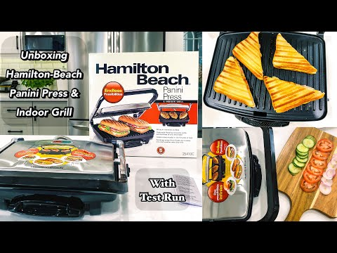 Unboxing and Testing Hamilton Beach Panini Press & Grill I Grilled Cheese Sandwich Recipe