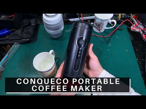 Review CONQUECO Battery Portable Coffee Maker – 12V Travel Espresso Machine