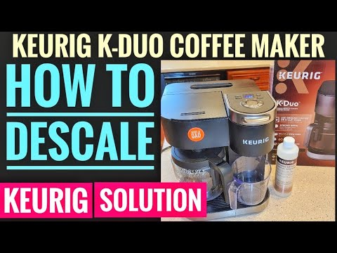 HOW TO DESCALE Keurig K-Duo Coffee Maker With Keurig Descaling Solution K-Cup Side Also