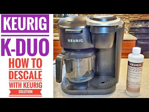 CLEAN/DESCALE Keurig K-Duo 12 Cup Coffee Maker with Single Serve K-Cup Pod  WITH Keurig Solution