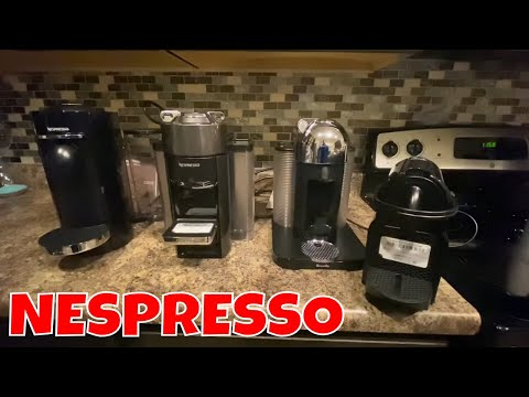 Overview and Demo of 4 Different Nespresso Coffee Machines – Breville – Delonghi – Virtuo – Inissia