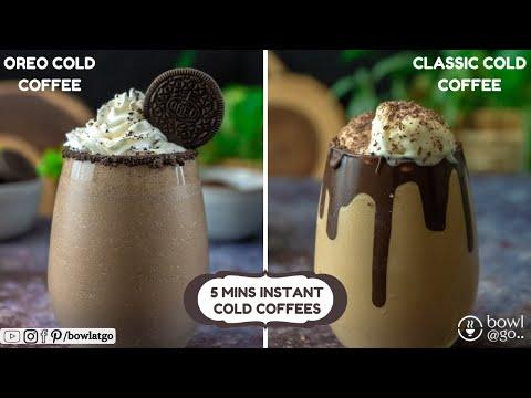 Cold Coffee Recipes   Classic Cold Coffee   Oreo Cold Coffee   Summer Drinks   bowlatgo