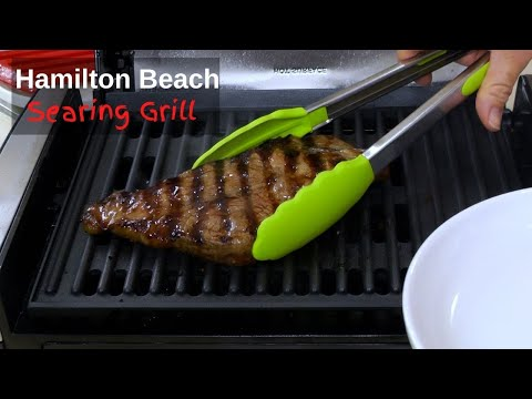 Hamilton Beach Searing Grill Review   Grilled Steak, Chicken, and Vegetables   Indoor Electric Grill