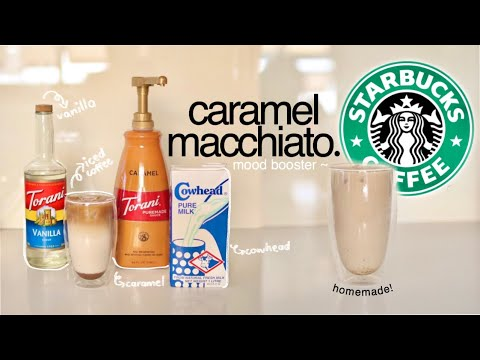 ☕ HOW I MAKE MY ICED COFFEE: STARBUCKS ICED CARAMEL MACCHIATO (easy and affordable!) | philippines
