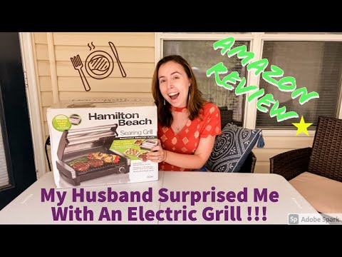 Hamilton Beach Electric Indoor Grill Review !!! Plus Me Grilling Steaks On It For The First Time !!!
