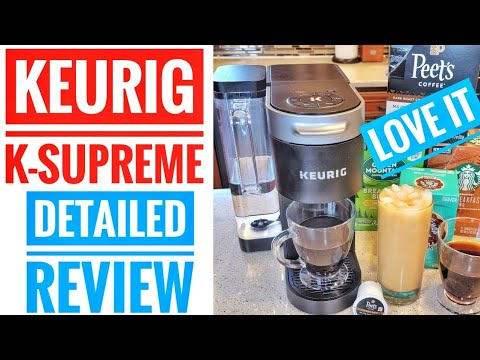 DETAILED REVIEW Keurig K-Supreme K-Cup Coffee Maker How To Make ICED Coffee