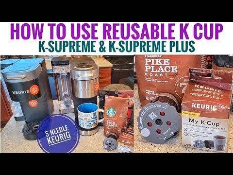 How To Use Reusable K-Cup Keurig K-Supreme & K Supreme PLUS K Cup Coffee Maker MY K CUP Filter