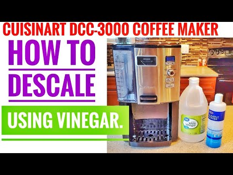 Cuisinart DCC-3000 Coffee-on-Demand 12-Cup Programmable Coffeemaker HOW TO DESCALE CLEAN VINEGAR