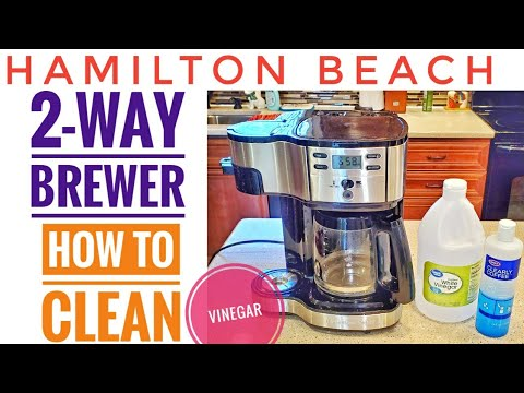 HOW TO DESCALE Hamilton Beach 2-Way Brewer Coffee Maker Single Serve 49980A with Vinegar