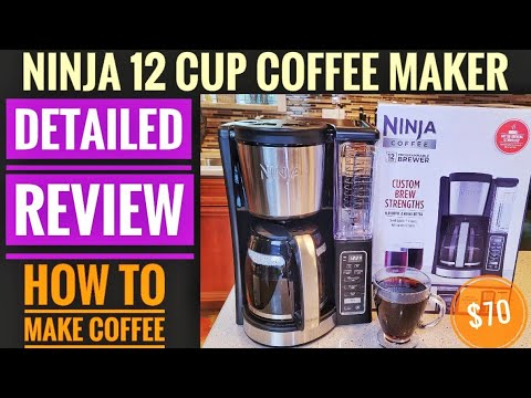 DETAILED REVIEW Ninja 12 Cup Programmable Coffee Maker CE200 HOW TO MAKE COFFEE